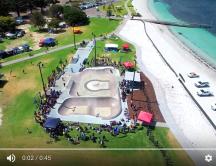 Esperance Skate Park Grand Opening from above