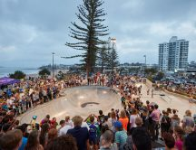 Huge crowds for the Alex Head Skate Park opening